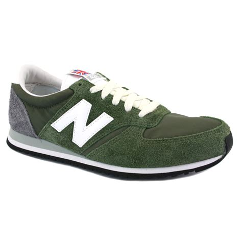 New Balance 420 new balance 420 u420uo mens laced suede trainers olive