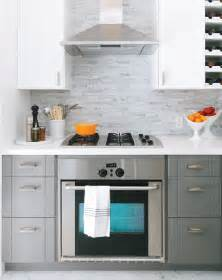 small kitchen range flourish design style grey and orange are fabulous in