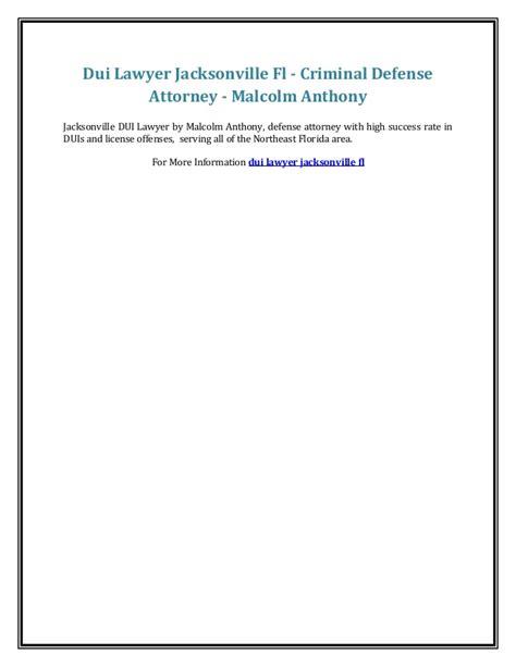 anthony daniels jacksonville fl dui lawyer jacksonville fl criminal defense attorney