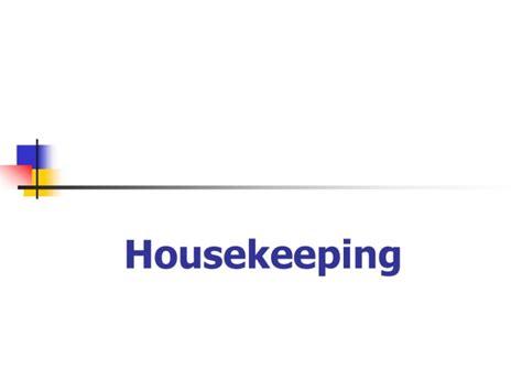 layout of housekeeping presentation frankfinn housekeeping