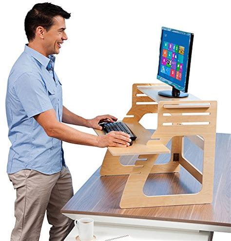 standing desk converter amazon well desk adjustable standing desk riser simple and