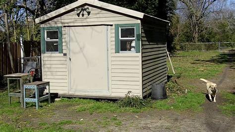 lark storage shed 10 x 12 frame construction 4 door 3500 new must move it ebay