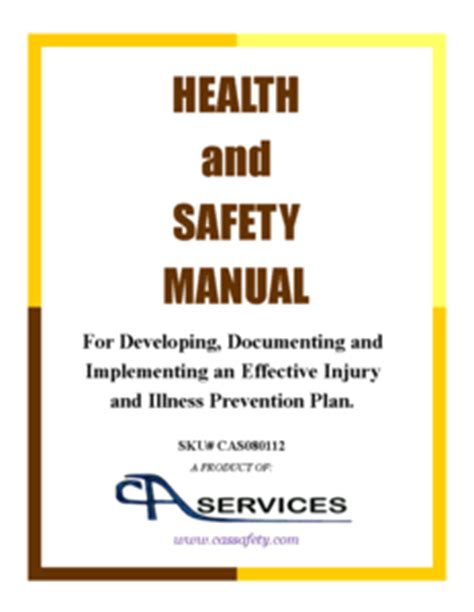 Health And Safety Manual Template With Osha Links Osha Safety Manual Template