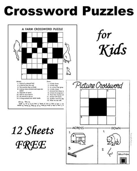 easy crossword puzzles for kindergarten crossword puzzles for kids worksheets pinterest