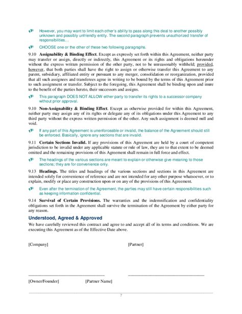 joint venture agreement template joint venture agreement sle free