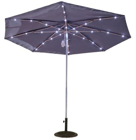 Umbrella With Solar Lights by 9ft Solar Light Umbrella