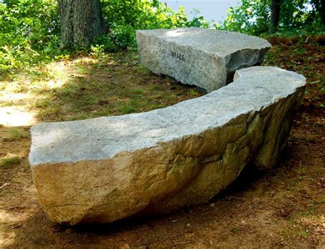 rock benches for garden stone seats and benches in the garden