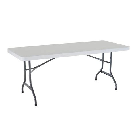 6 Foot Plastic Folding Table Lifetime Plastic Folding Banquet Table 6 The Home Depot Canada