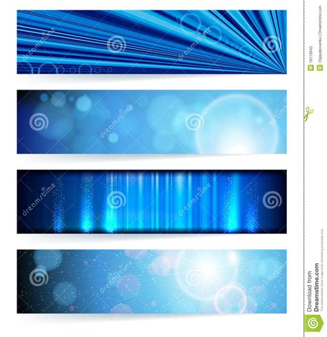 design print banner llc set of abstract banners blue design royalty free stock