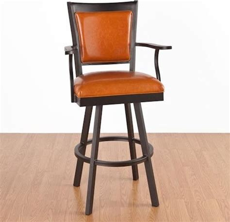 Kitchen Bar Chairs With Arms Newport 30 In Bar Stool With Arms Swivel Modern