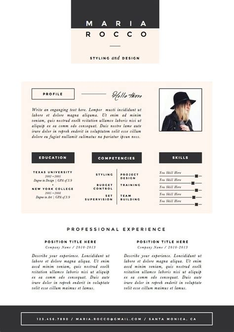 Resume Template The 3pk by 3pk Resume Cv Template Cover Letter For By