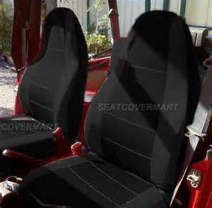 Car Seat Covers For Jeep Wrangler Jeep Wrangler 1987 1996 Neoprene Black Color Car Seat