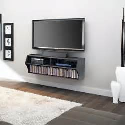 wall mount tv stand floating shelves dvd storage media