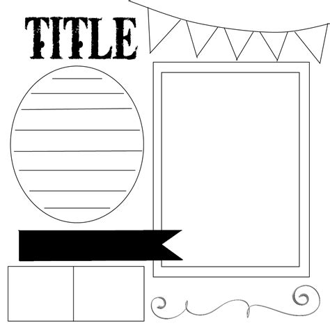 scrapbook templates printable the gallery for gt scrapbooking templates free printables