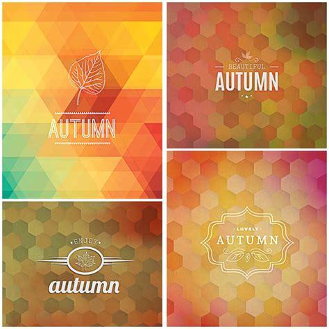 autumn background modern vector