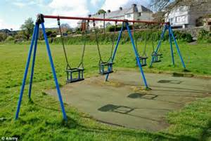british swinging schools ripping out playground equipment to avoid being