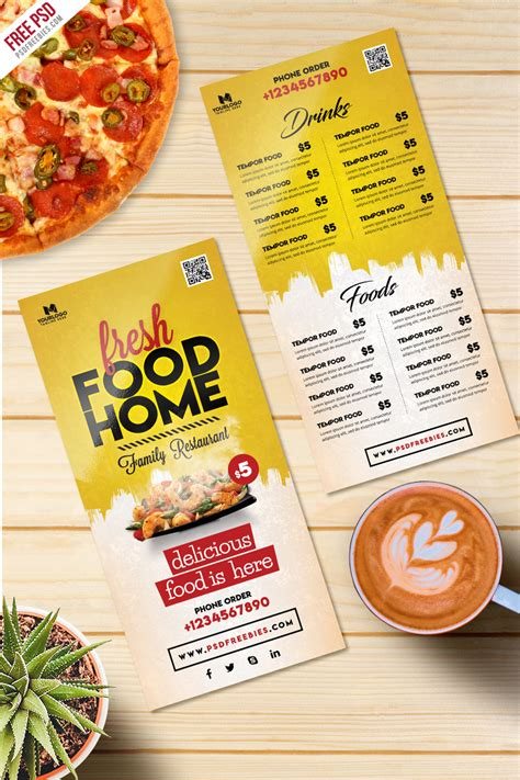 food card template free food menu card psd template freebie uxfree