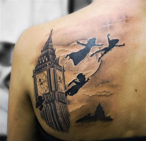 peter pan tattoo peter pan but in color tattoos pinterest awesome