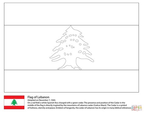 flag of lebanon coloring page free printable coloring pages