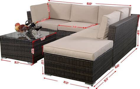 rattan 4 outdoor sofa set giantex 4pc wicker rattan outdoor sectional sofa set