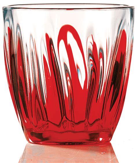 bicchieri guzzini guzzini bicchiere acqua iris rosso bicchieri