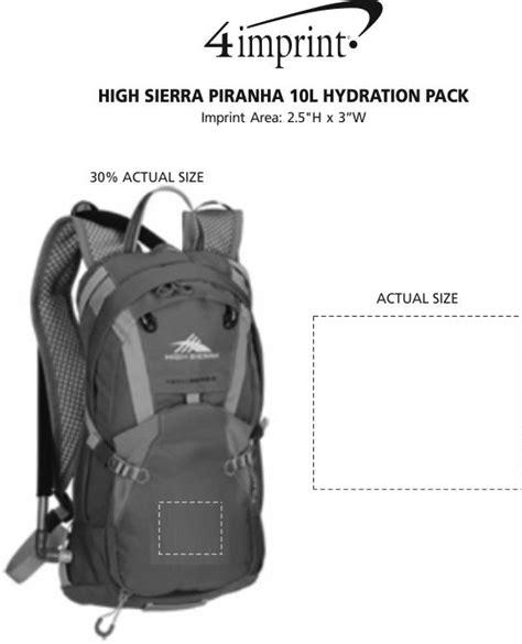 4imprint hydration pack 4imprint high piranha 10l hydration pack