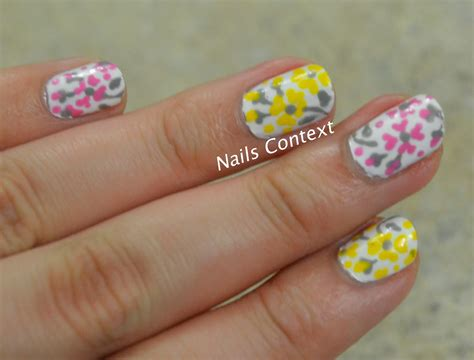 Cotton Buds Cinderella nails context floral print
