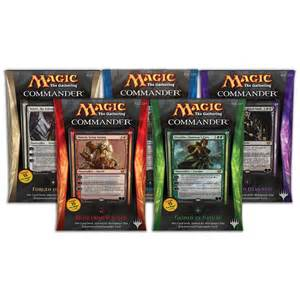 mtg decks buy the magic the gathering 2015 commander box of all 5