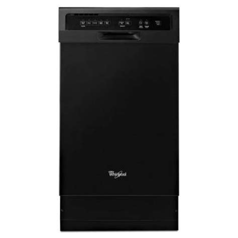whirlpool 18 in front dishwasher in black with