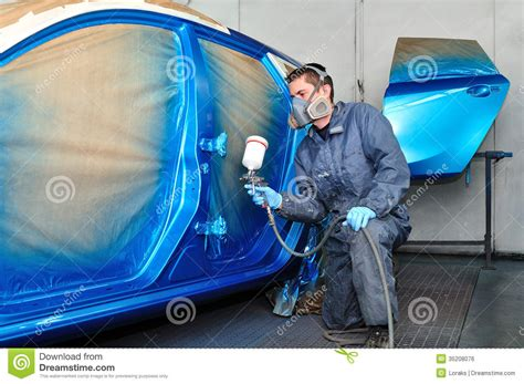 car painting free profesional car painter royalty free stock image image