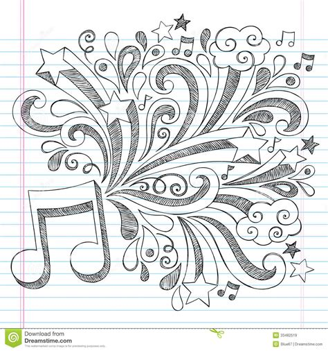 doodle ideas for school note sketchy notebook doodle vector illustra stock