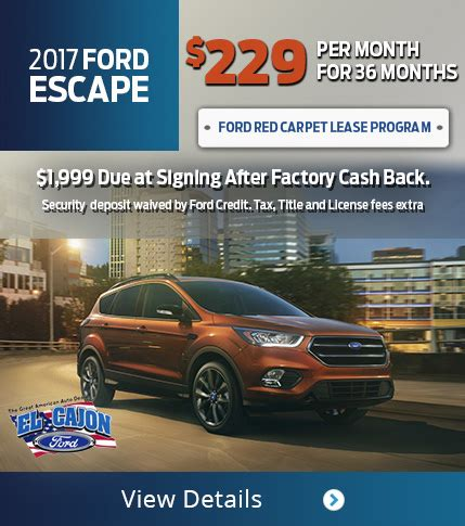 national ford lease specials san diego ford dealership serving la mesa national city