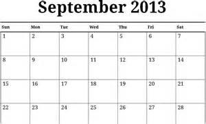 Calendar September 2013 Image Gallery September 2013 Calendar