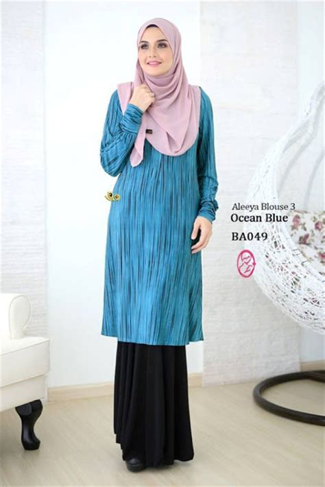 Dress Wanita Dress Muslim Wanita Naira Dress Pink Balotelly norzi beautilicious house nbg002 blouse aleeya iii