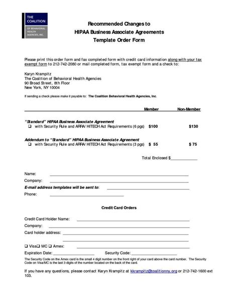 baa agreement template hipaa business associate agreement template