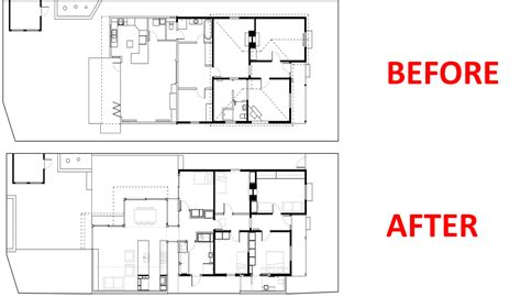 home design before and after federation house renovation idea with room layout rearrangement home improvement inspiration