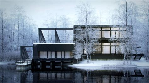 making house making of nordic house 3d architectural visualization