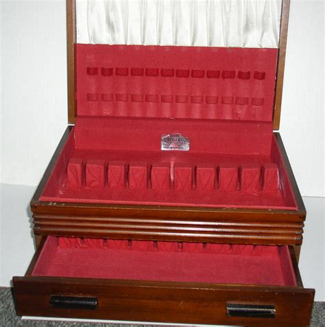 silverware rubber st vintage wood silverware flatware chest with drawer 1881