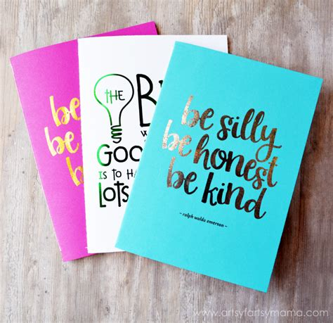 Print Notebook S M diy foil notebooks artsy fartsy