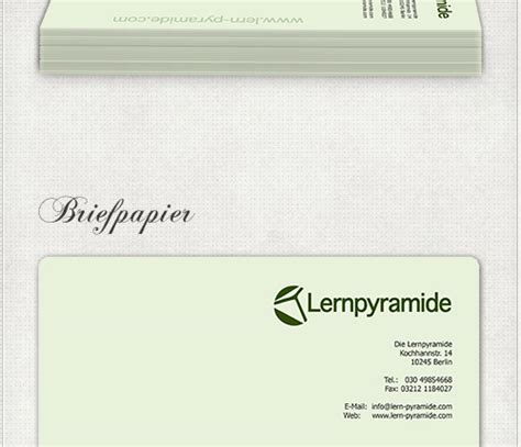 Design Konzeption Vorlage Headshot Berlin Briefpapier Lernpyramide