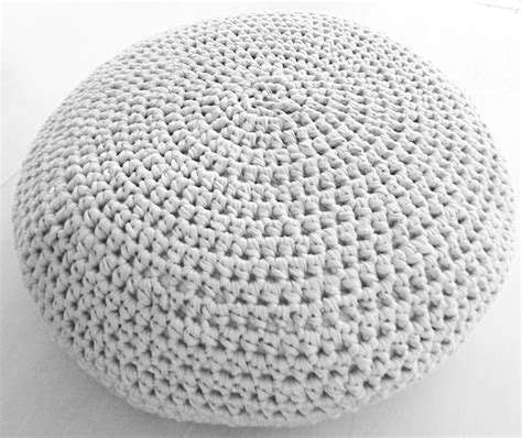 grey pattern pouf large crochet pouf ottoman floor cushion pdf pattern instant
