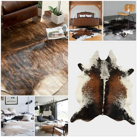 Cow Hide Rug In The Living Room Or Bedroom Installation