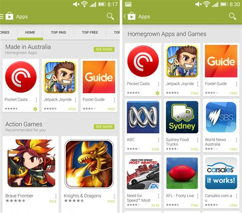 new australian made category appears in play store