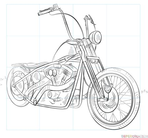 Motorrad Zeichnen by How To Draw A Chopper Bike Step By Step Drawing Tutorials