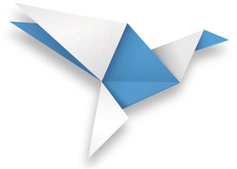 Origami Bird Logo - origami png image collections craft decoration ideas