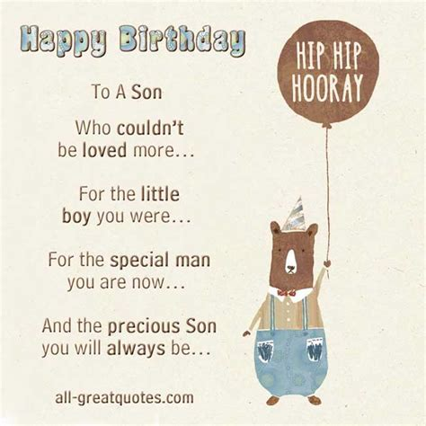 printable birthday cards for a son birthday card for son quotes quotesgram