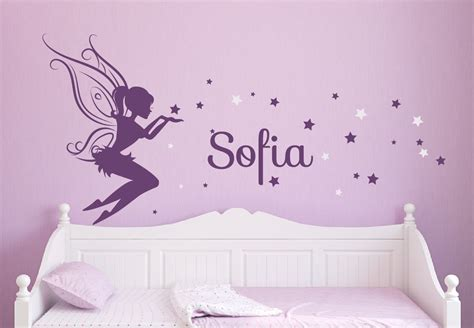 wall decals for girl bedroom baby girl room decor fairy wall decal w blowing stars vinyl