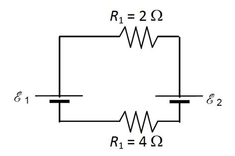two resistors are connected in series with a battery two ideal batteries are connected in series with chegg