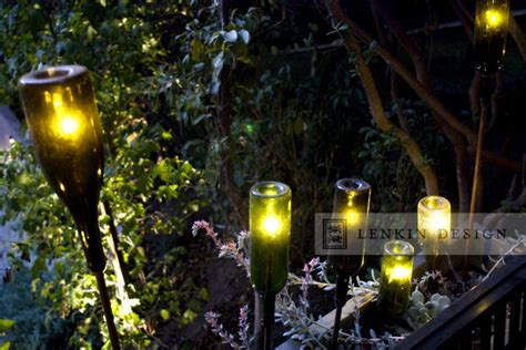 Planter Lights by Planter With Wine Bottle Lighting Eclectic