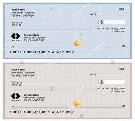 Business Check Template blank check template 30 free word psd pdf vector